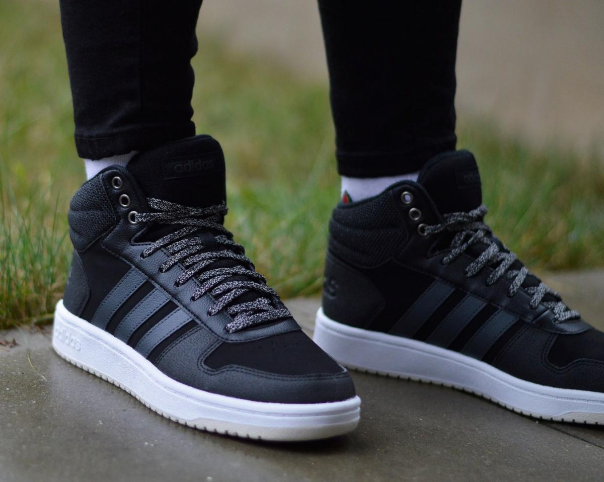 Détails sur Adidas Hoops 2.0 MID B42110 Chaussures Femmes